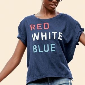 Sundry Red White Blue Graphic Pima Cotton Tee